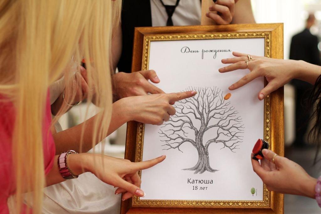 Дерево пожеланий открытка, днем рождения открытка