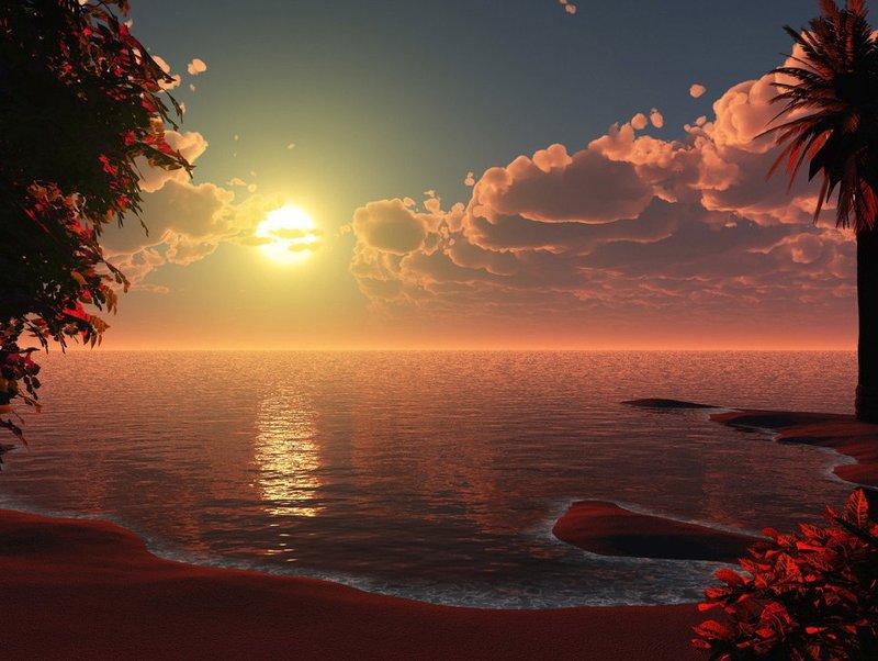 Красивый закат чдо