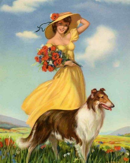 День рождения, прикольные картинки женщина с собакой