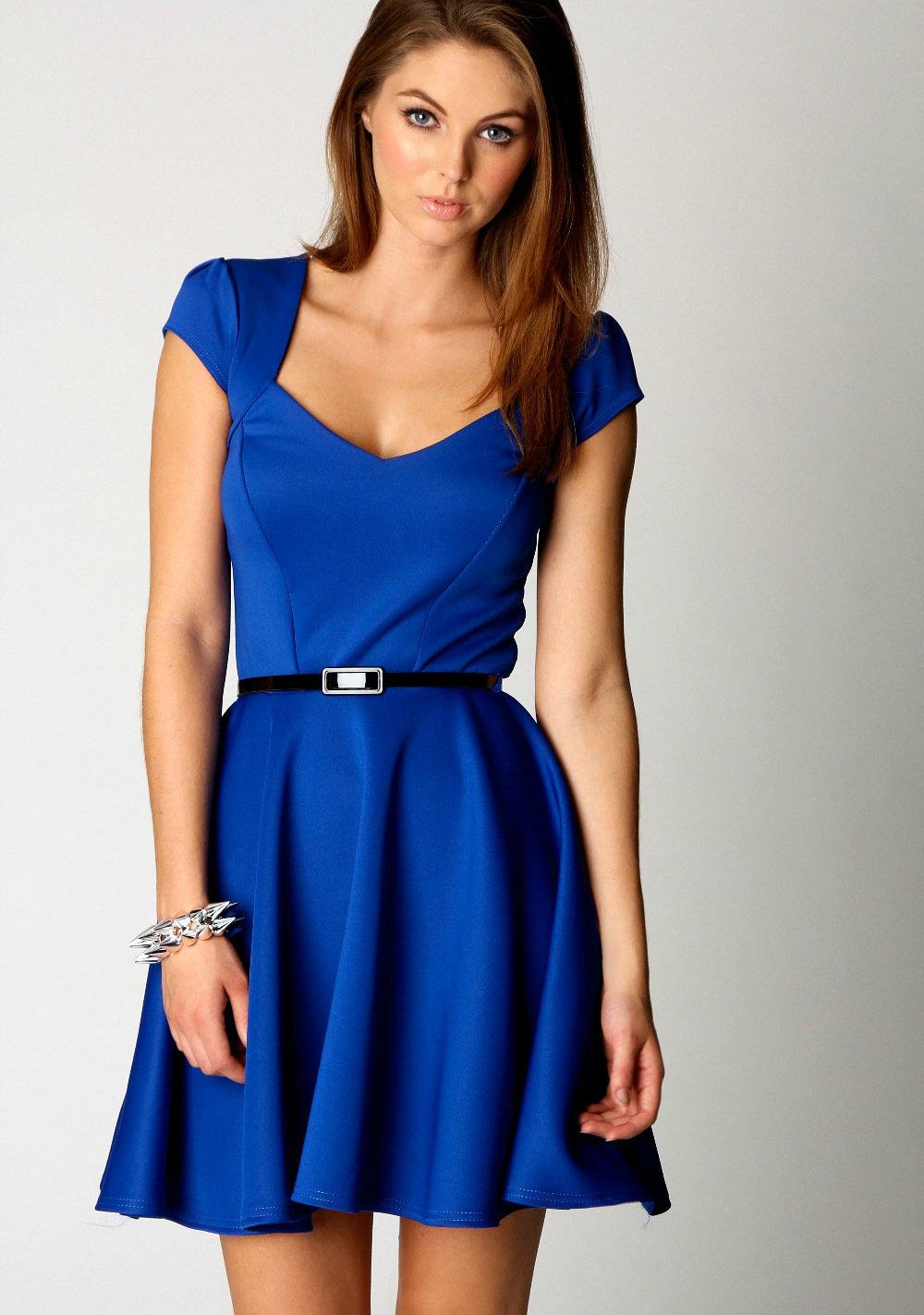 фото с синим платьем если