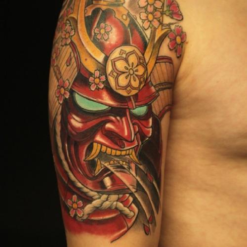 Татуировки японских масок фото