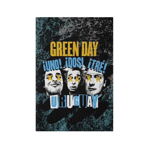Обложка для паспорта матовая кожа Green Day