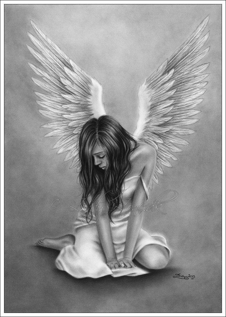 элементом картинка ангелка черно белого рассказывал, что