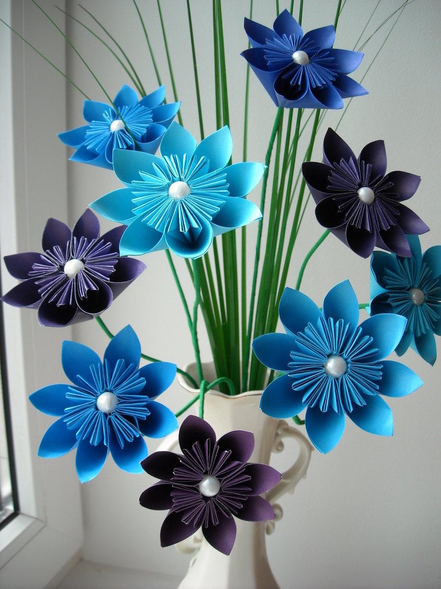 букет цветов из цветной бумаги своими руками это