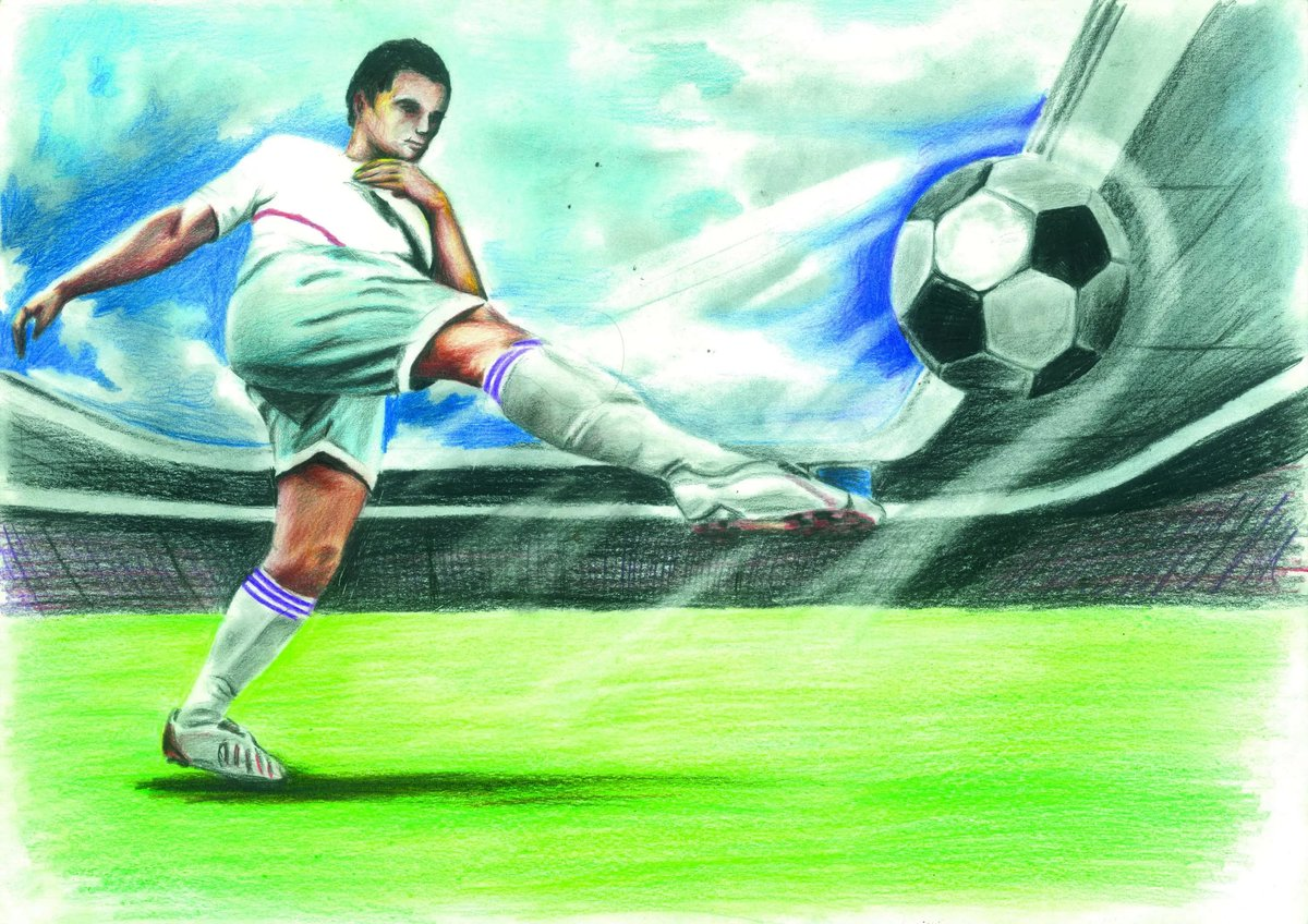 картинки с футболистами для рисунка значение для