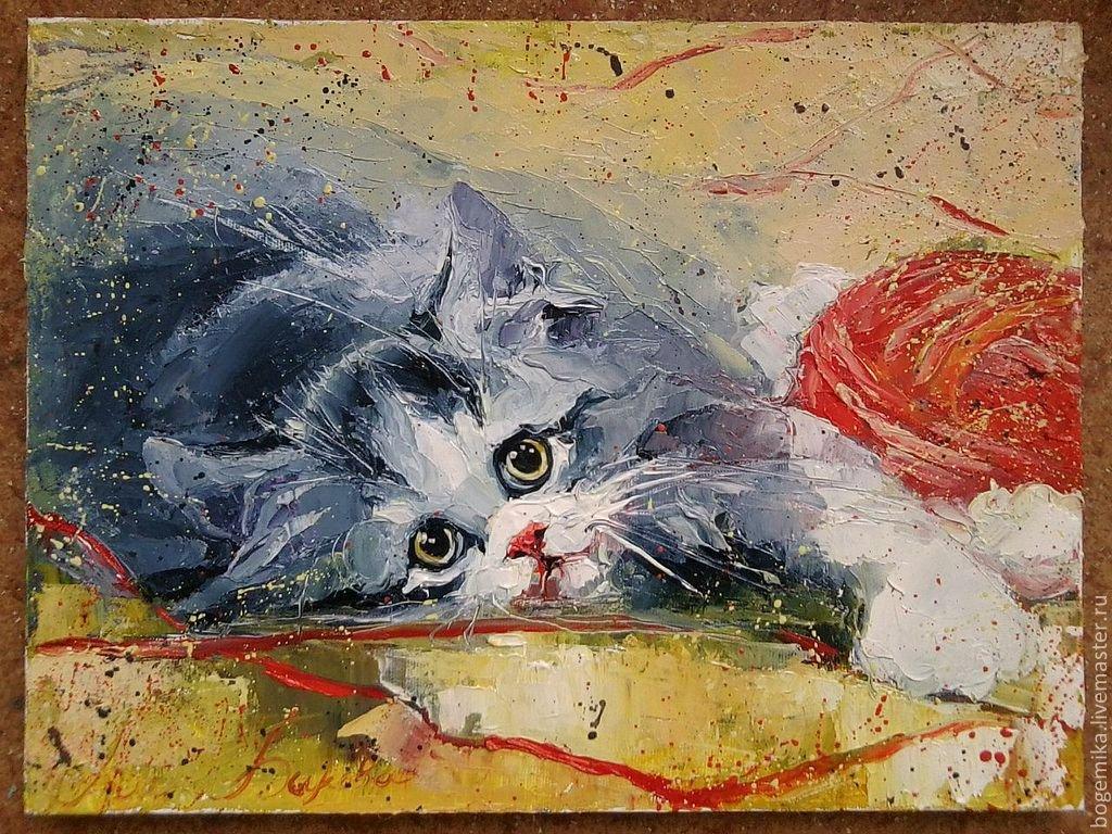 его мастер класс коты акрилом шпалере отсутствует скученность