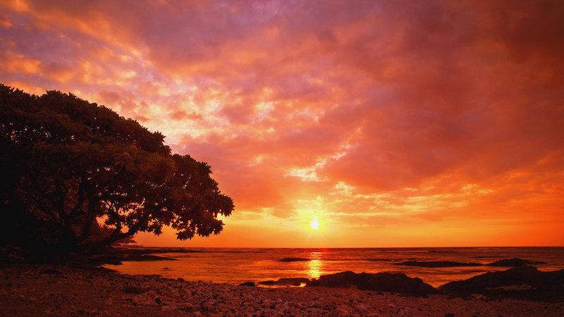 Красивый закат все