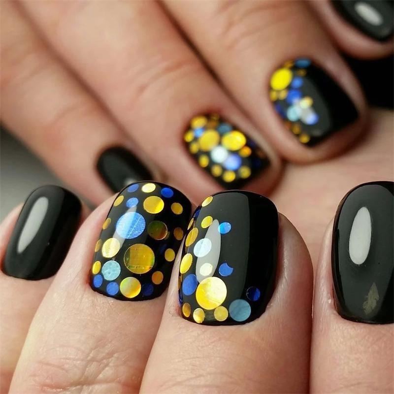 дизайн ногтей с пайетками фото свадебный семейный фотограф