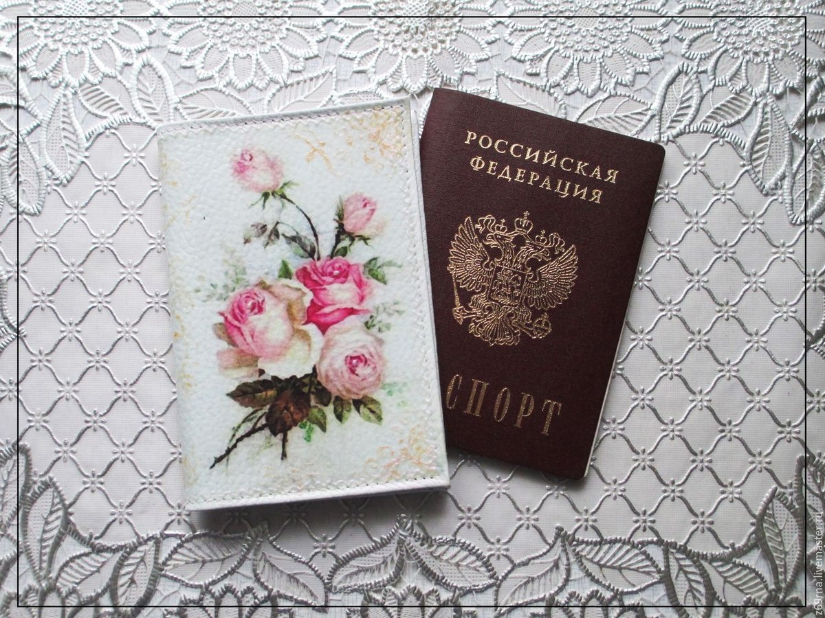 Картинки на паспорт декупаж, надписью