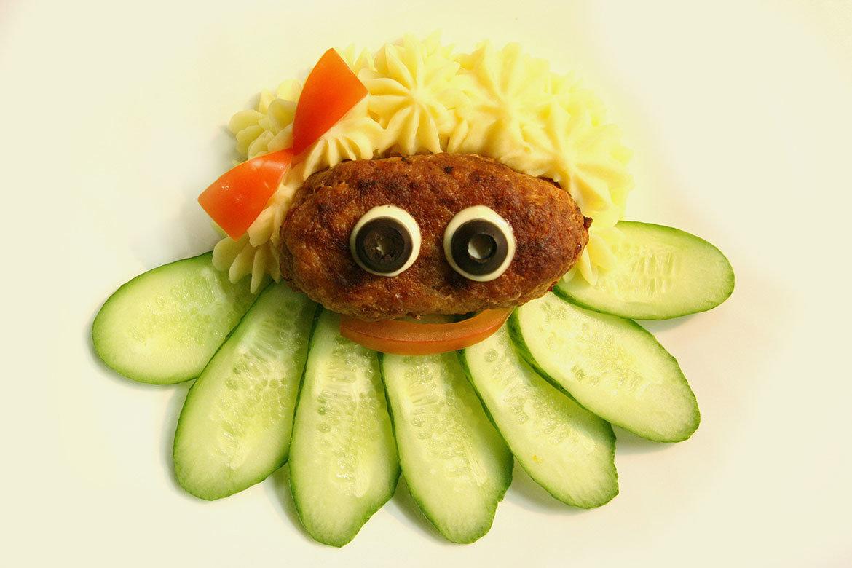 Украшение блюд в картинках детское
