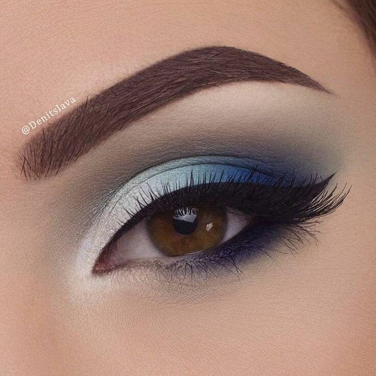 Более 25 лучших идей на тему «Макияж глаз» на Pinterest | Уроки по ... Красивый вечерний макияж для любого цвета глаз