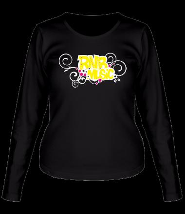 Женская футболка с длинным рукавом RNB Music