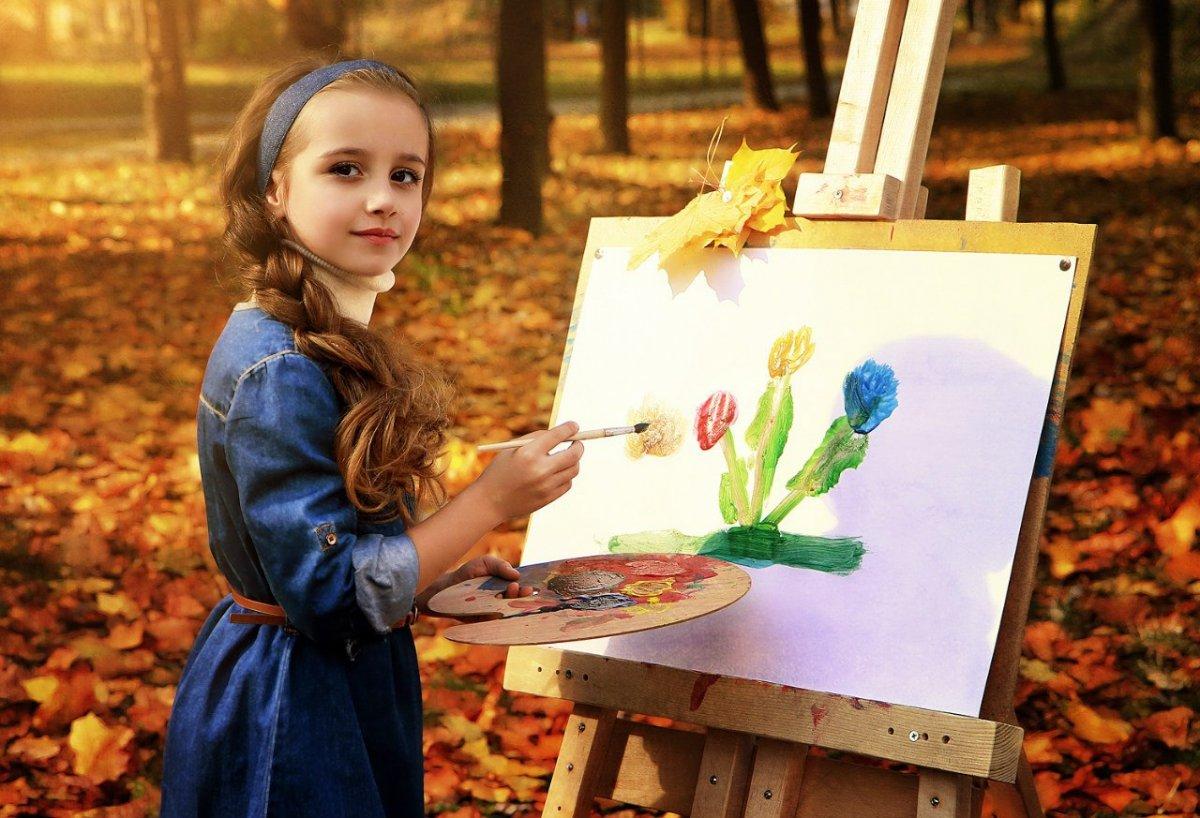 картинка художник на природе хотя дебютанты