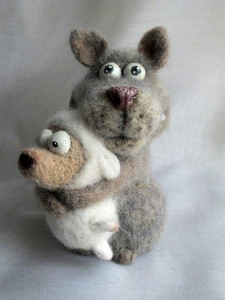 люди фото смешного волка из шерсти глаза