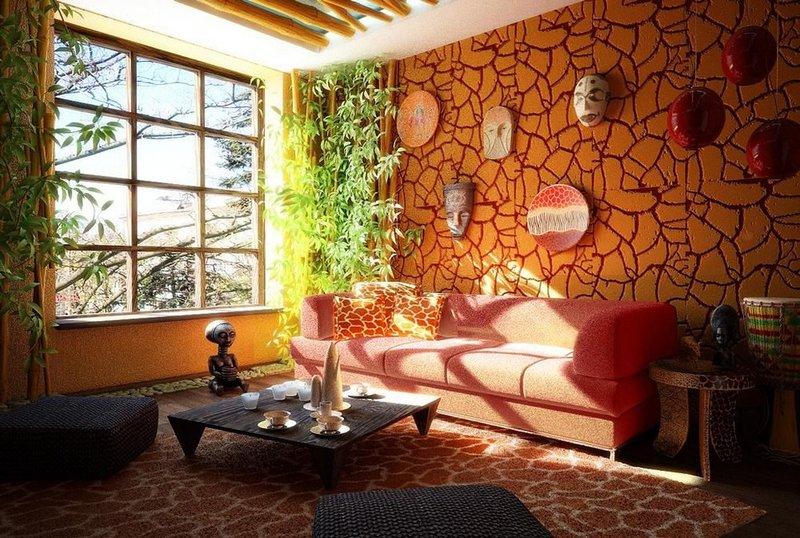 Этно-стили дизайна интерьера: воссоздание стиля жаркой Африки. Отличия африканского стиля от других, основные рекомендации по дизайну интерьера.