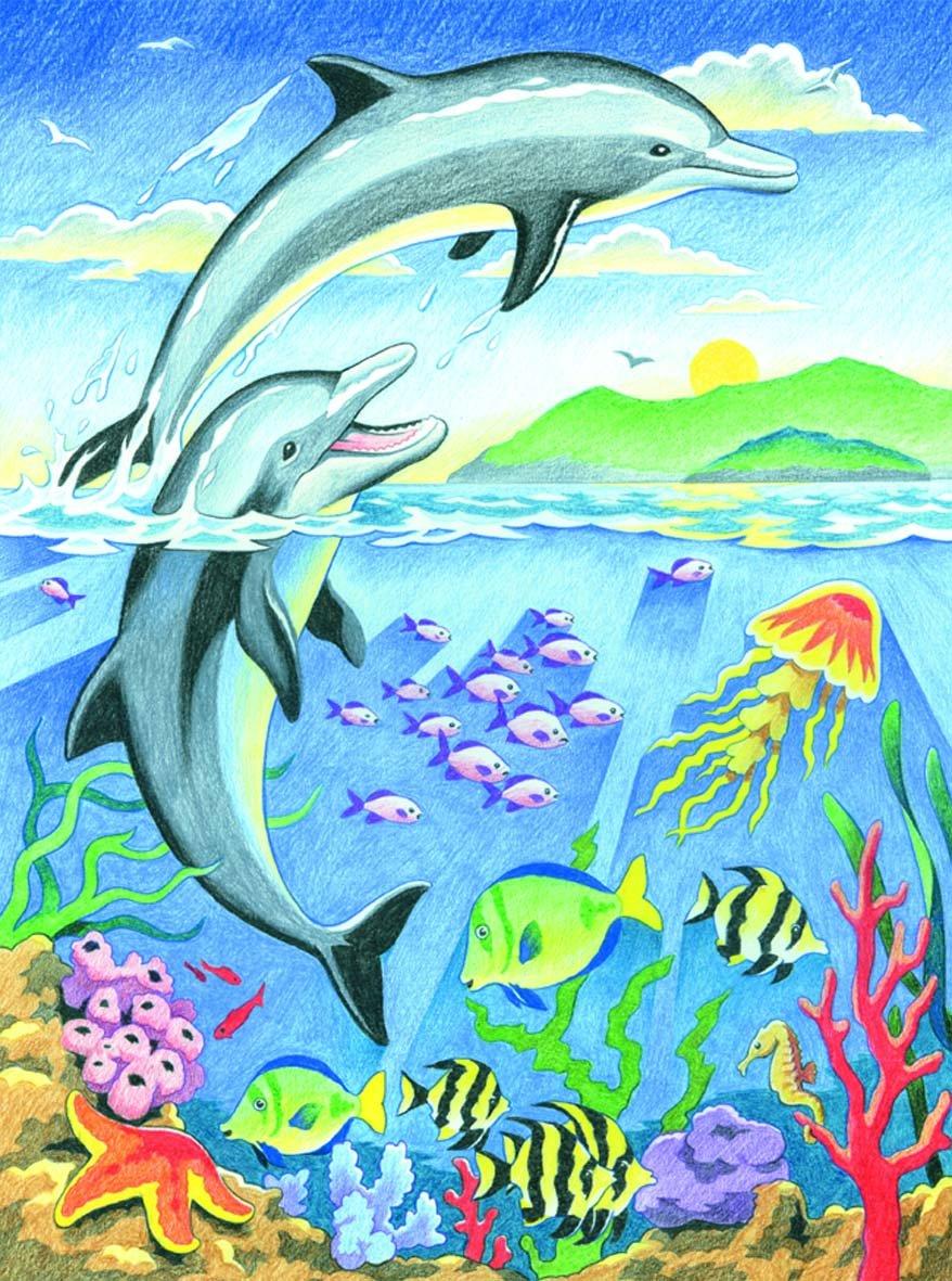 Морская картинка рисовать