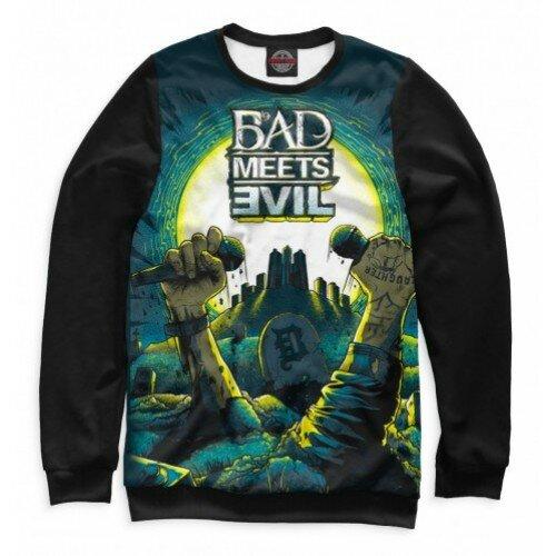 Женский свитшот 3D Bad Meets Evil