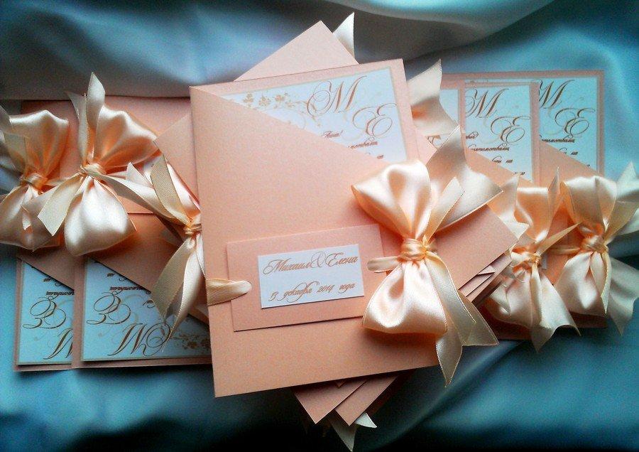 Приглашения на свадебное торжество