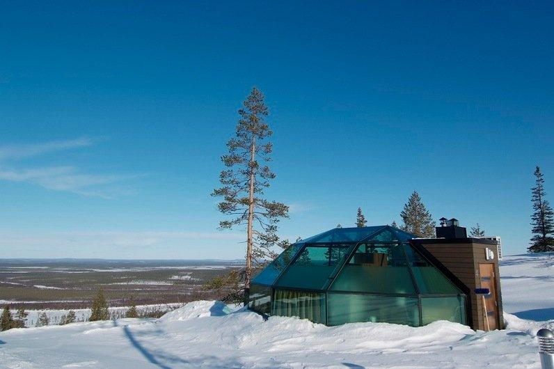 стеклянные иглу отеля Kakslauttanen