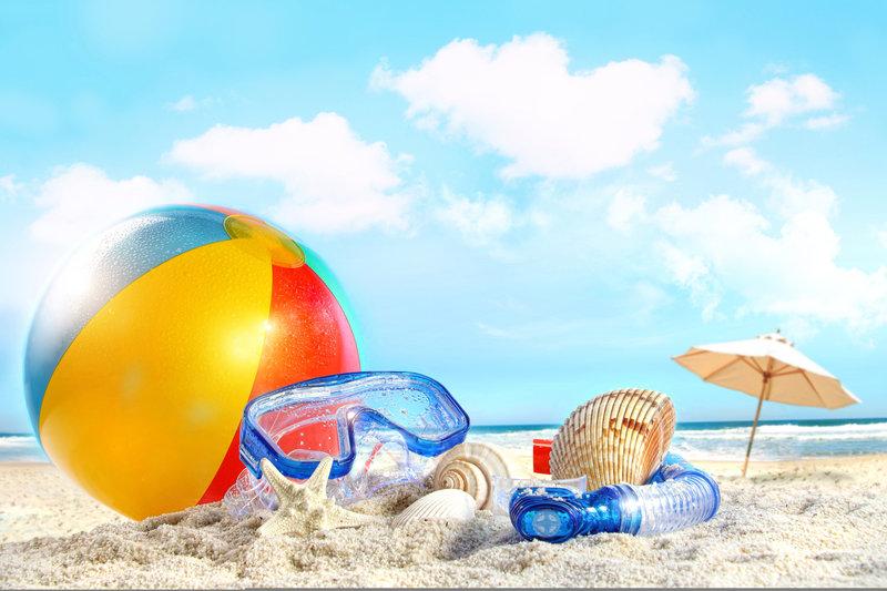 море, солнце, парень, пара, девушка, pair, Sand beach, пляж ... ... beach, sky, море, clouds, Shells, ball, облака, ...
