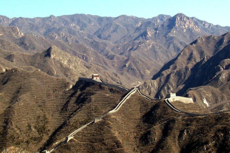 Горы Китая и Великая Китайская стена