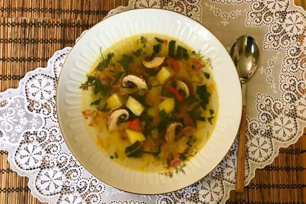 Рецепт вкусного супа с грибами шампиньонами