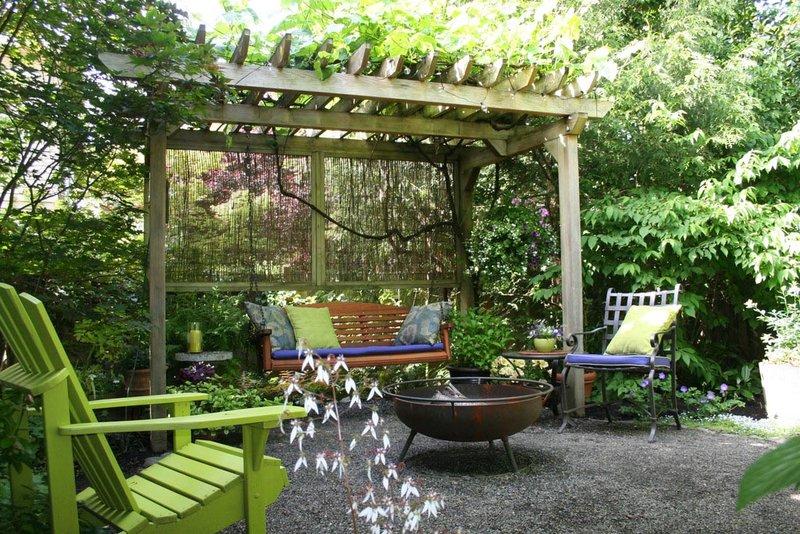 Swinging Bench Fire Pit Fire Pit Design Ideas