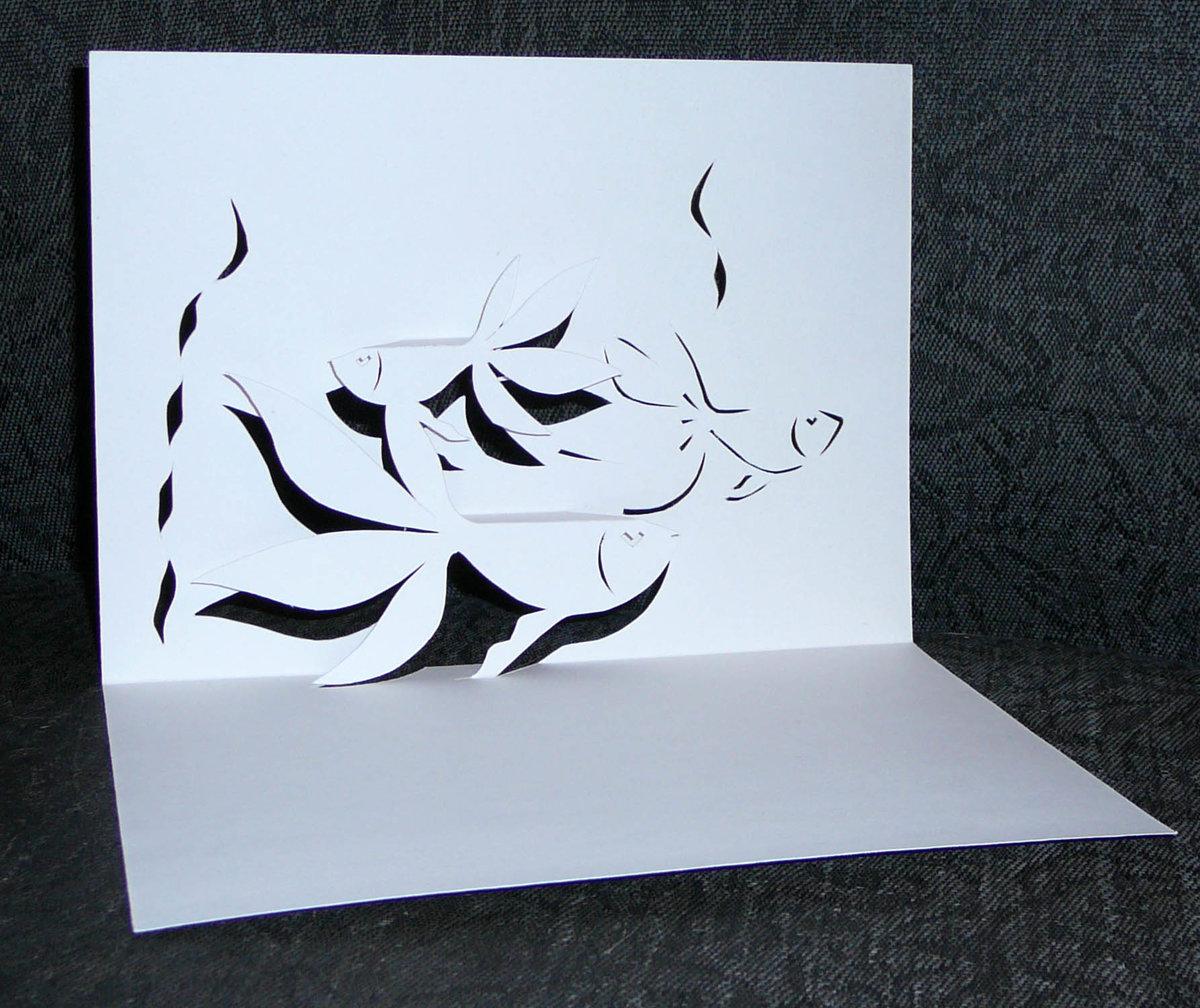 Как сделать объемную открытку с фото