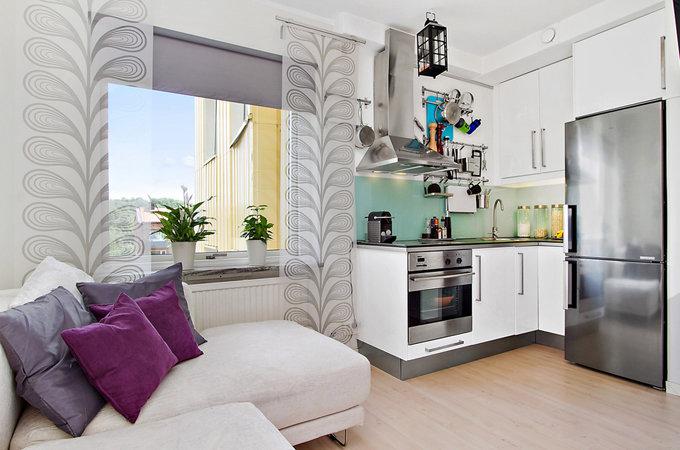 Дизайн интерьера квадратной квартиры-студии