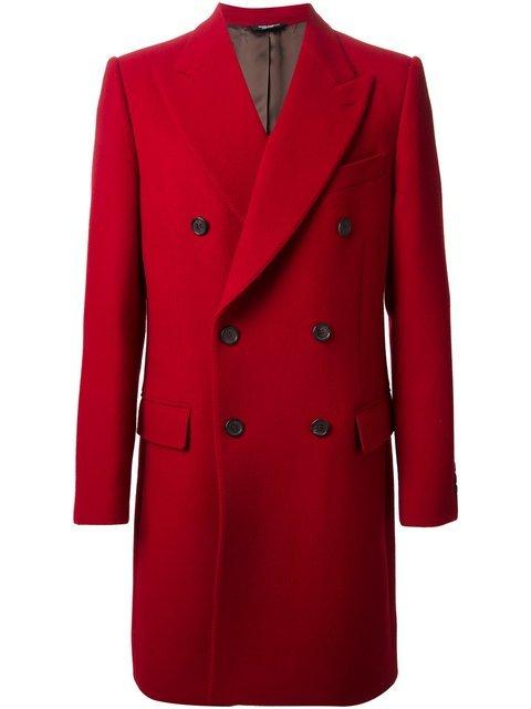 Купить Dolce & Gabbana двубортное пальто.