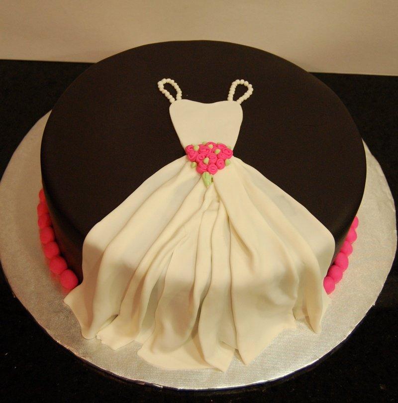 торт на девичник белое платье
