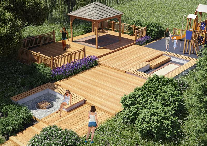 Проект деревянных помостов для территории прибрежной зоны -