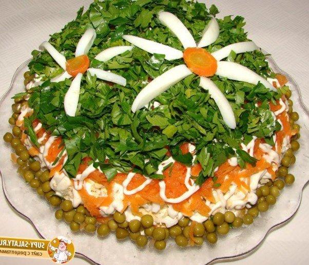 Украшения салаты на день рождения простые и вкусные рецепты фото