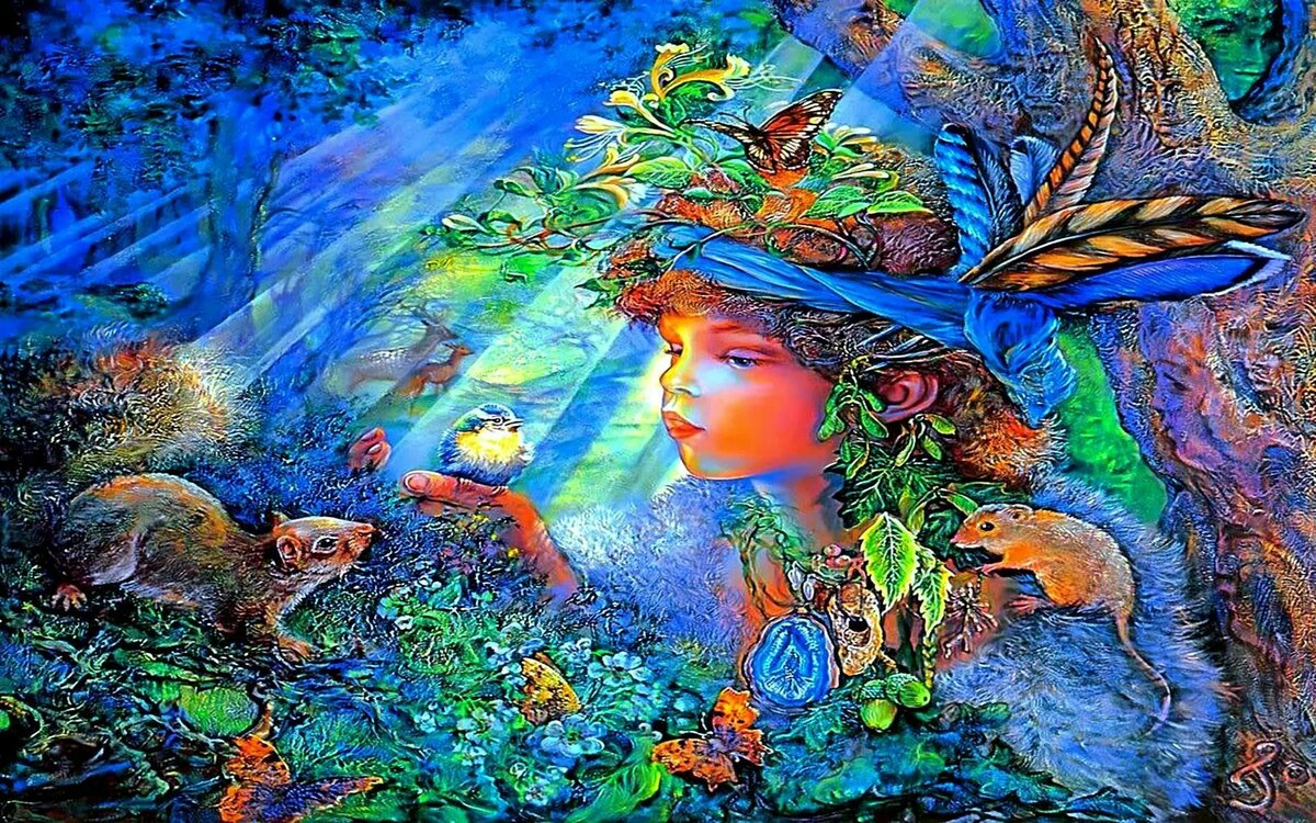 Зачарованные миры жозефины уолл открытки