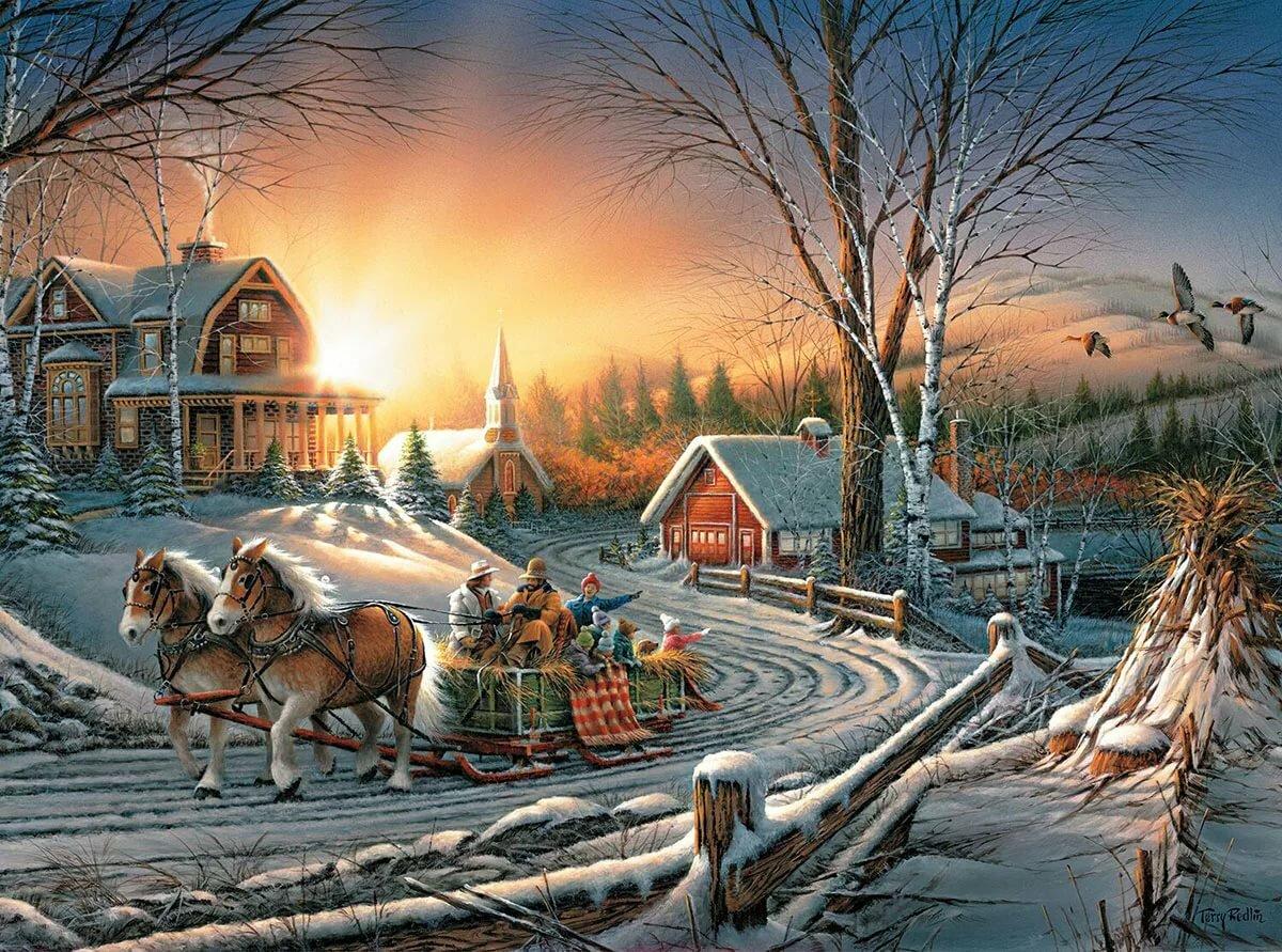Открытки на новый год сказочные