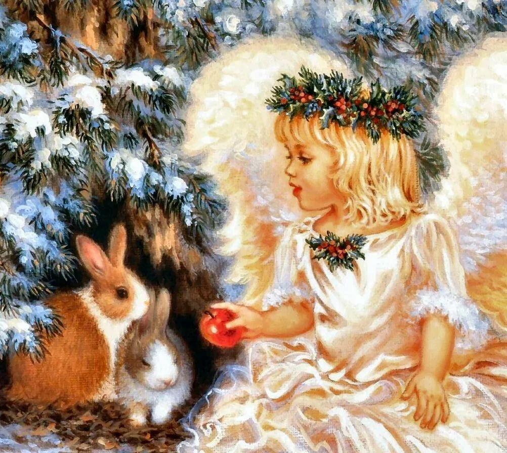дата картинки зима ангелочки объявления