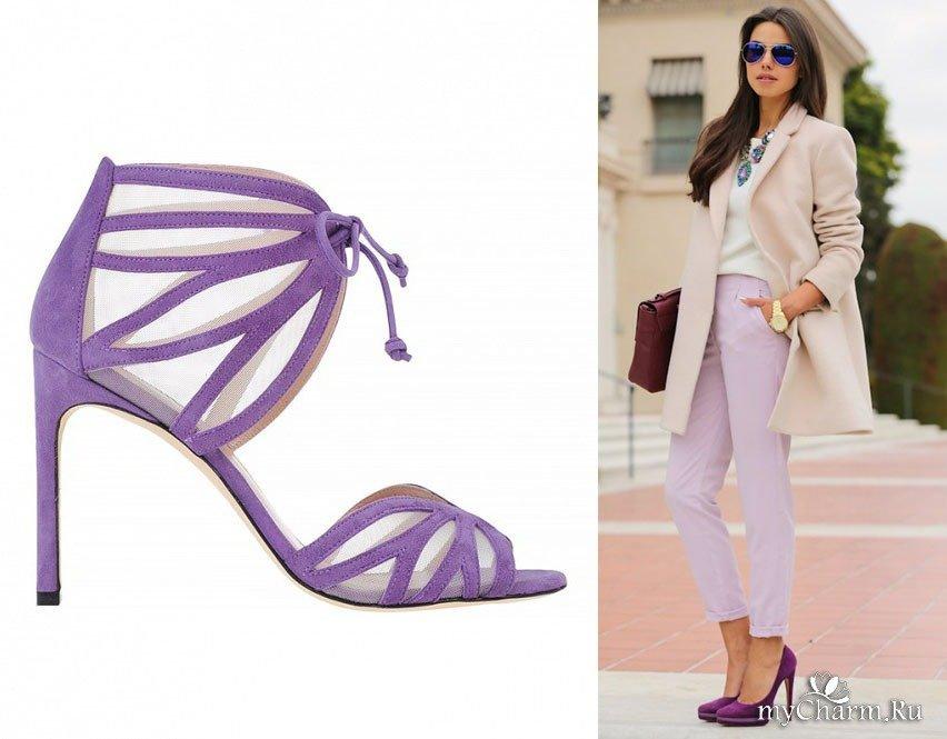 одной ног фиолетовые босоножки с чем носить фото важной частью