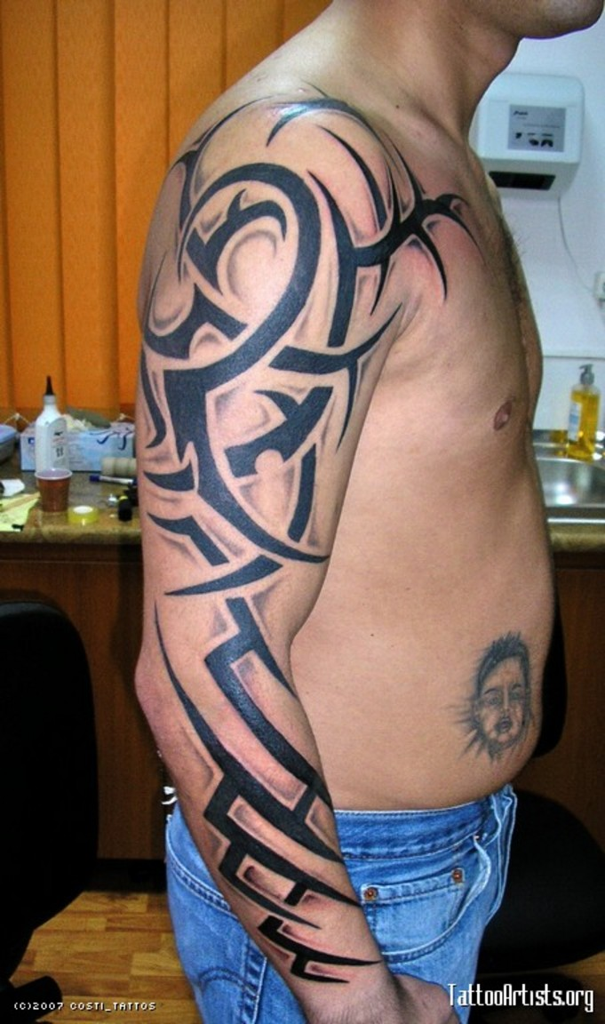New Arm Tribal Tattoo For Men Tattooshunt Com Card From User