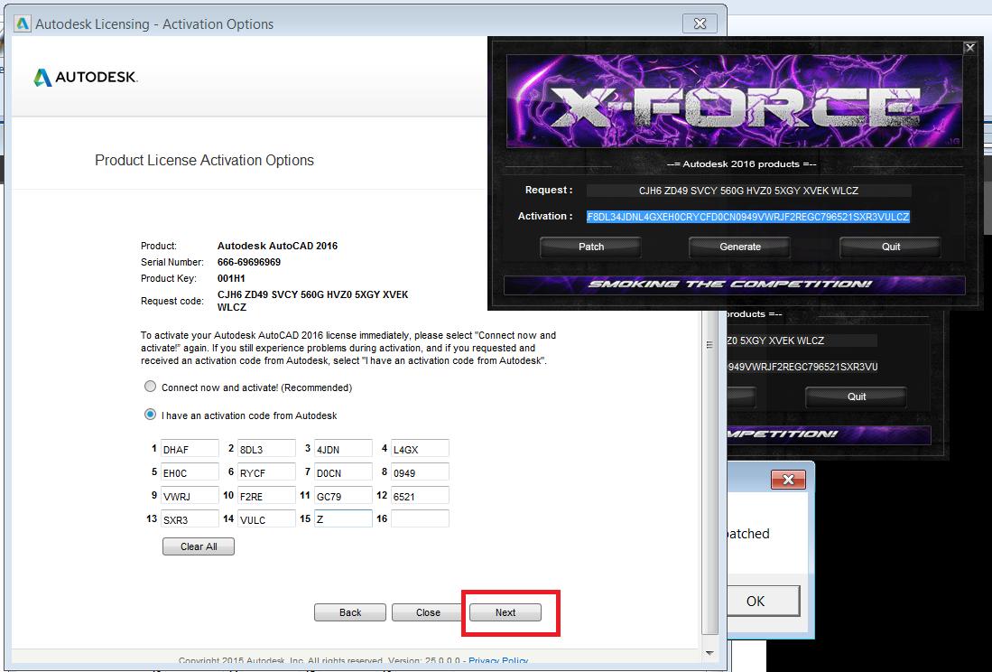 autocad 2016 xforce keygen 64 bit download