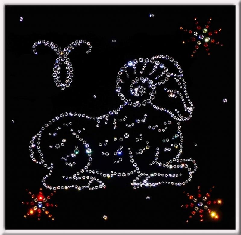 Картинка со знаками зодиака, вечер при