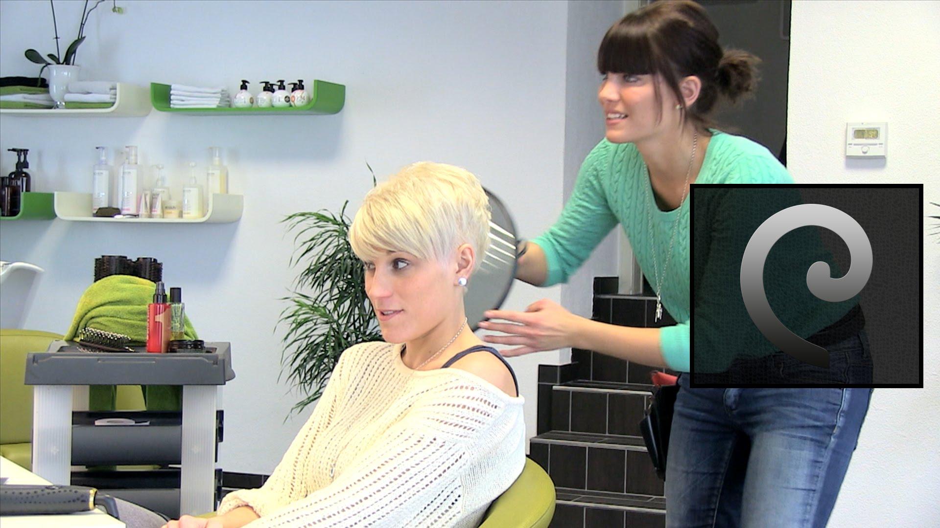 Short Pixie Haircut Makeover Undercut Sidecut Extreme Card