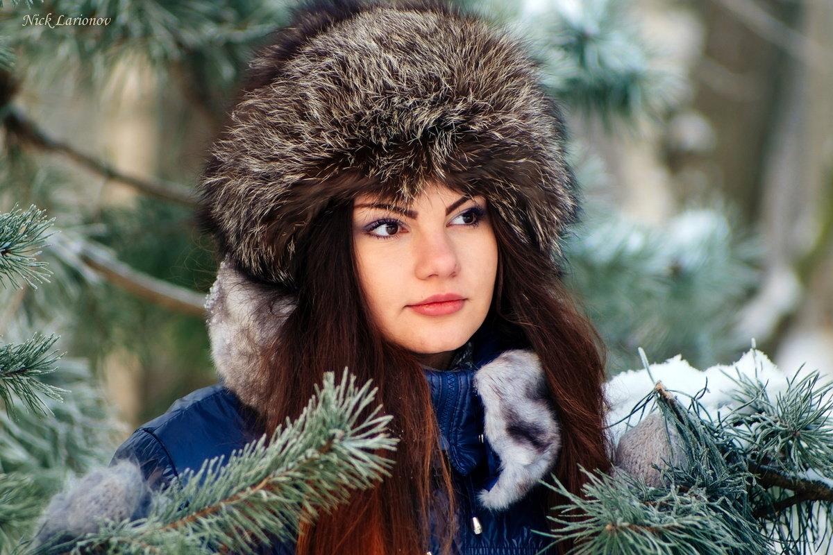 Фотопортреты зимние обработка