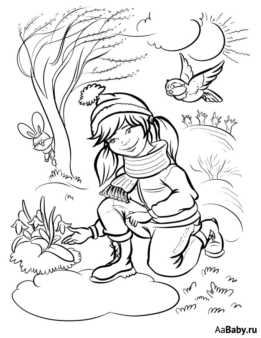 весенние картинки раскраски для малышей тупака