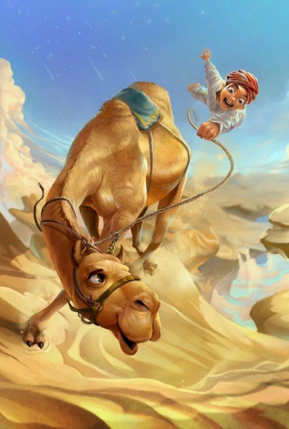 Смешные рисунки верблюд, медвежонок