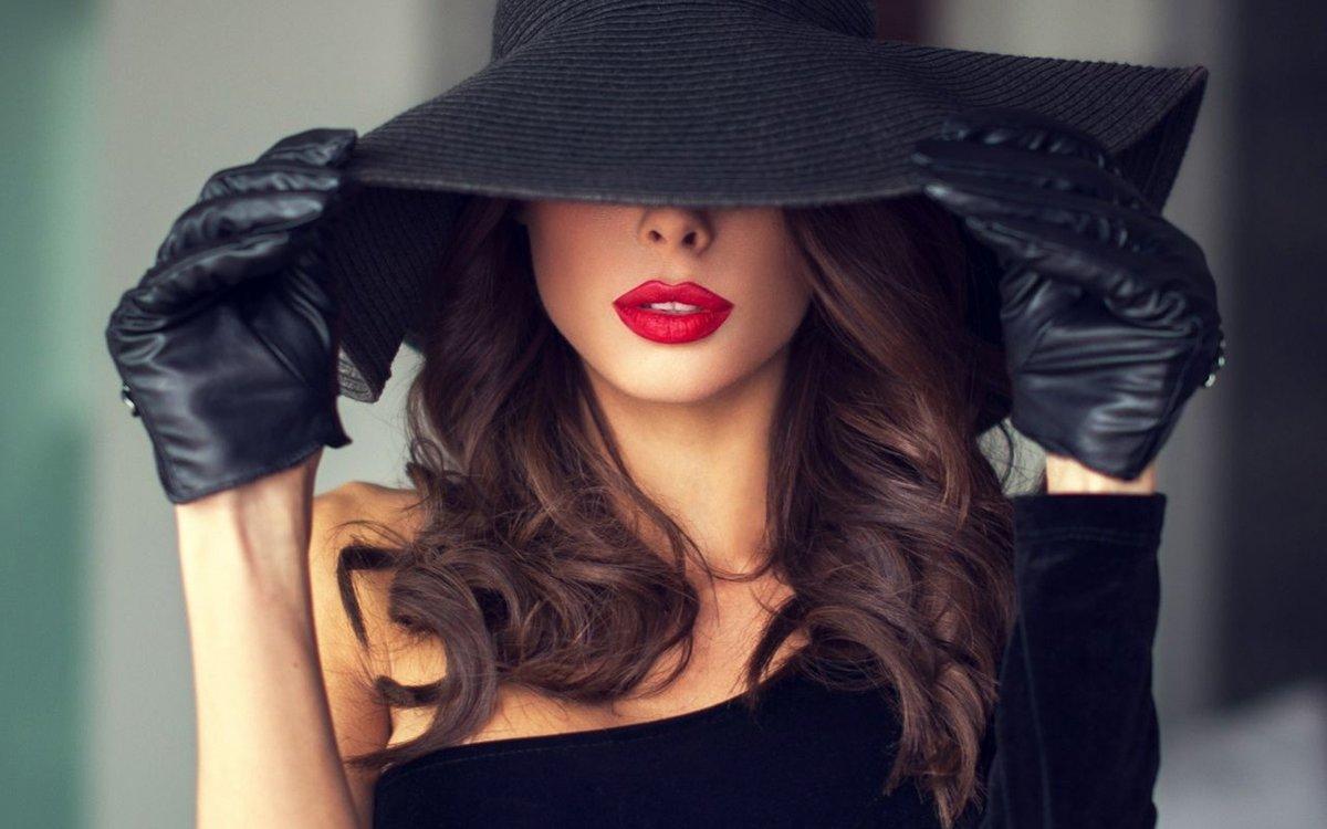 Картинки девушек в шляпе на аву, открытки