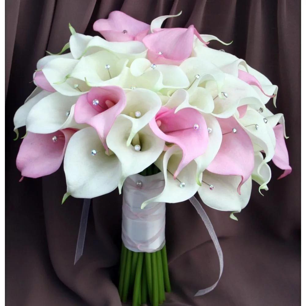 Белых, свадебный букет невесты из калл киев