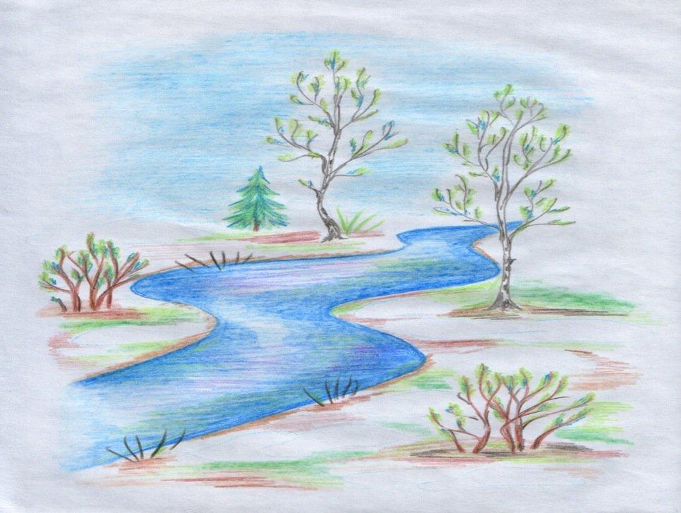 Рисунки для срисовки про природу легкие