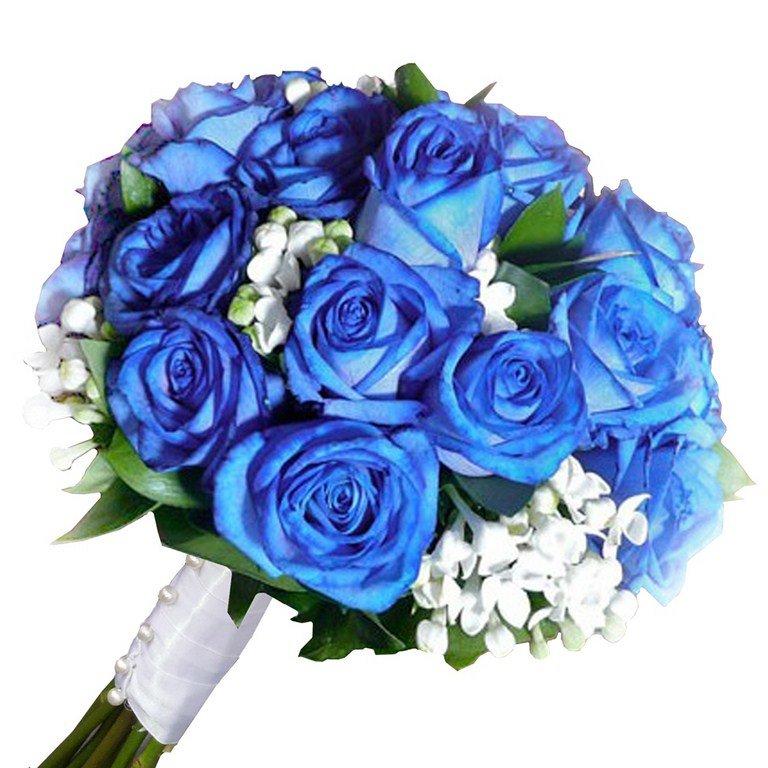 Цветов самара, букет невесты из синих роз купить киев