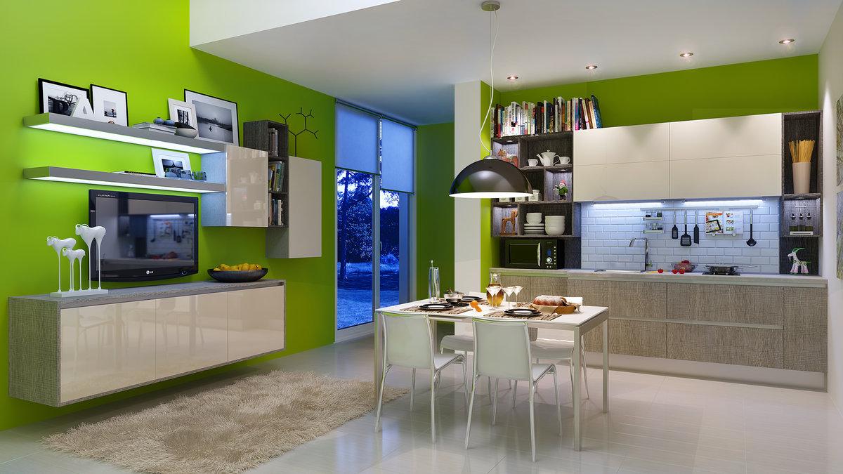 Панорамная картинка кухни