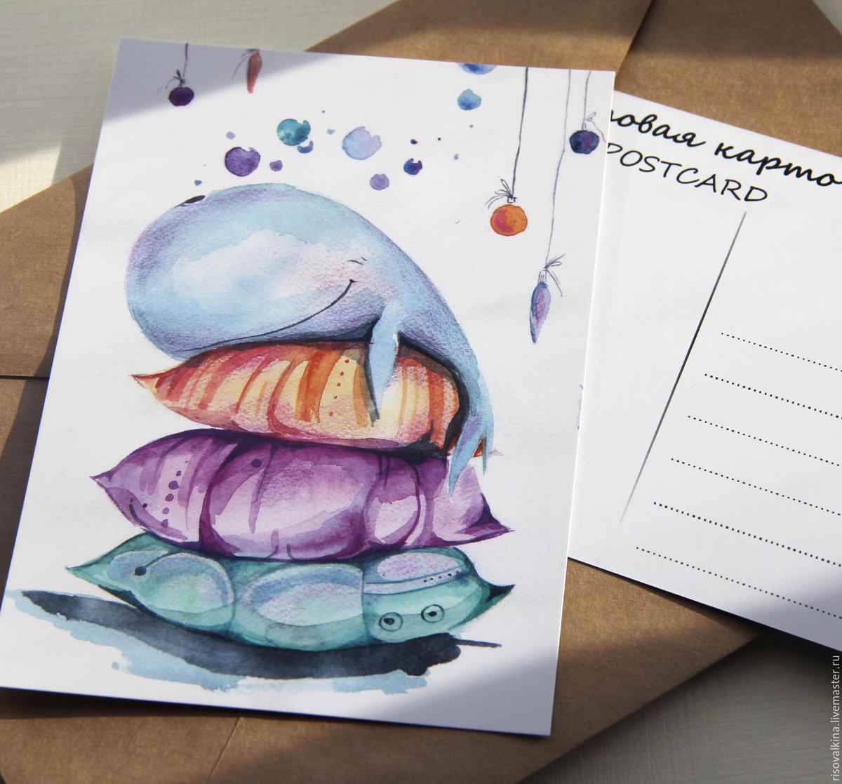 Рисуем акварелью открытки